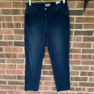 NWT Chico's slim leg ankle dark wash jeans